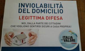 RACCOLTA FIRME: Inviolabilit� del domicilio e legi