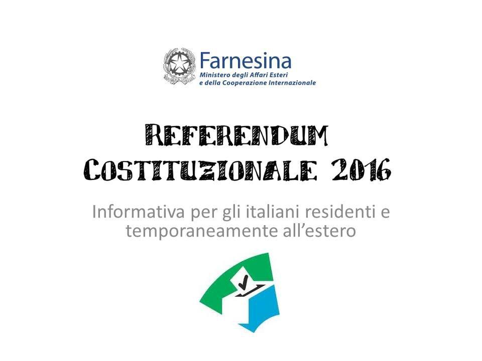 REFERENDUM COSTITUZIONALE 2016 - AVVISO OPZIONE VO