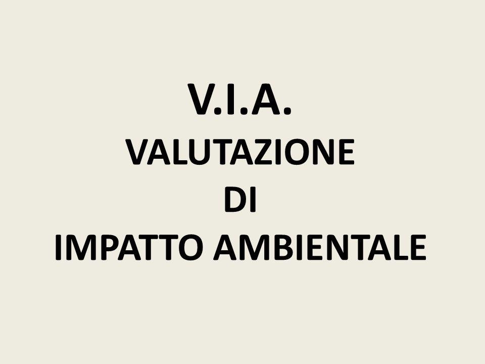 V.I.A. - VALUTAZIONE DI IMPATTO AMBIENTALE