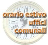 ORARIO ESTIVO UFFICI COMUNALI