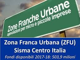 Zona Franca Urbana Sisma Centro Italia